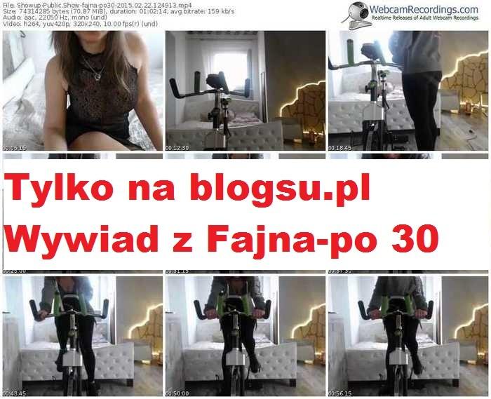 Tylko na blogsu.pl!!!! Jedyny autoryzowany wywiad z Fajna-po30