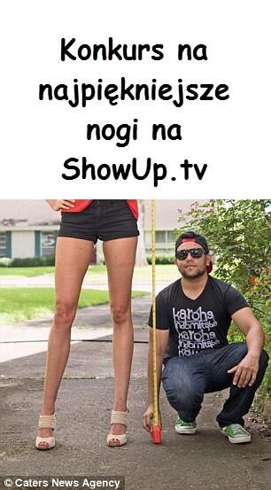 Konkurs na najpiękniejsze nogi ShowUp.tv blog forum